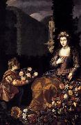 HAMEN, Juan van der Offering to Flora painting